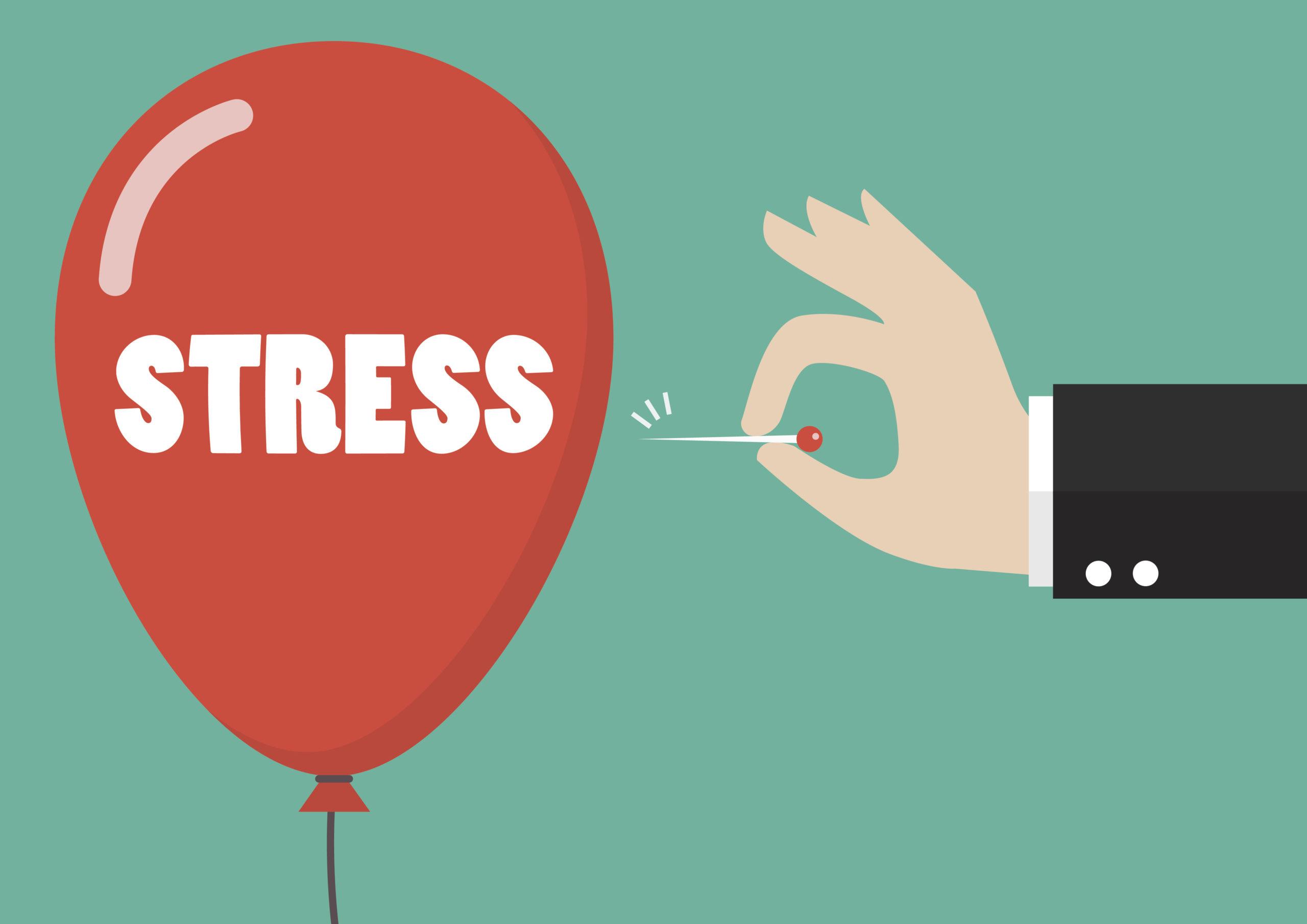 stress balloon popping