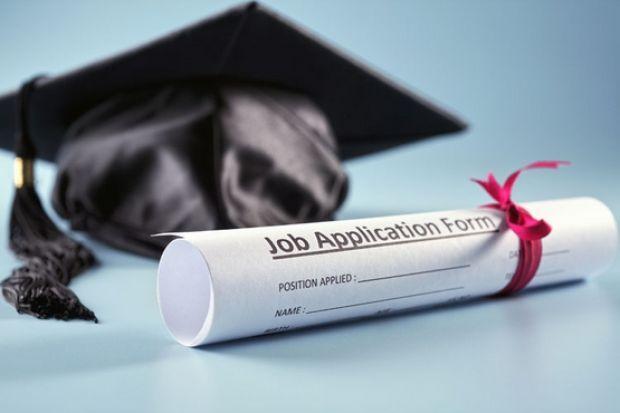 Job application form and graduate cap